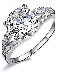Ring Women's Diamond Silver / Sterling Silver / Platinum Plated Silver / Sterling Silver / Platinum Plated Love5 / 6 / 7 / 8 / 8½ / 9 /