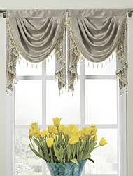 "Modern Classic Floral Glyphes Cascade Valance 19W X 24 ""L (One Piece)"