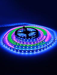 RGB-LED-ljuslist med fjärrkontroll och 12 V 5A adapter (5 m, 30 W, 60x5050 SMD)