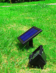 La energía solar ultra brillante 30 LED Jardín inundación del punto del césped fresco blanco de la lámpara (CIS-57258)