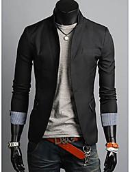 Men's Long Sleeve Blazer , Cotton Blend/Wool Blend Pure