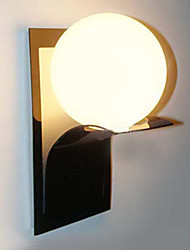Bathroom Wall Light, 1 Luce, Moderno Globe Metallo, Vetro, Galvanotecnica