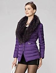 Skim moda revestimento das mulheres Collar Raccoon Fur