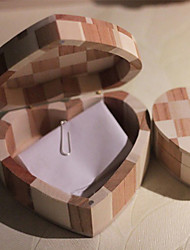 Creative Heart-shaped Wooden Storage Box
