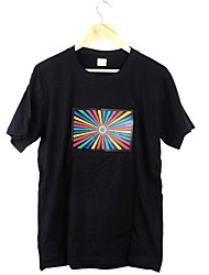 Most Attractive Music Activated Flashing Colorful Equalizer LED T-shirt