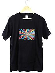 Самая привлекательная музыка Активированный мигающий Красочный эквалайзер LED футболку