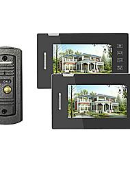 Home Security Video Door Phone Intercom with Outdoor Metal Camera and 2 Indoor Touch Keypad Screens