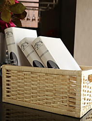Traditional Gold Bamboo Storage Basket For Cloth