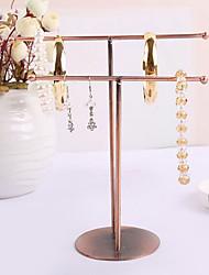 Modern Brown Metal Earrings Rack