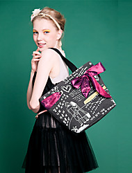 Baobaobaoshi Women's Vintage Sweet Lady Leisure Shoulder Bag Black 30 * 22 * 33 CM