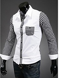 Luxe Slim Casual T-shirt manches longues Homme