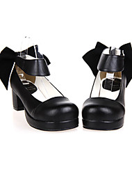 Lolita Shoes Classic/Traditional Lolita Handmade High Heel Shoes Solid 4.5 CM For PU Leather/Polyurethane Leather