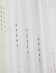 (Two Panels) Elegant Neoclassical String of Beads Pattern Sheer Curtain
