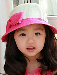 Kid's Double Color Dome Straw Hat