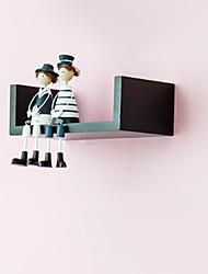 Modern Short Creative Wood Hanging Storage Shelf