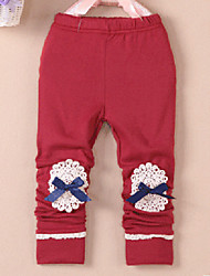 Girl's Solid Pants,Cotton Blend All Seasons