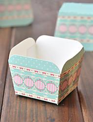 Green Square emballages de petit gâteau - Lot de 50