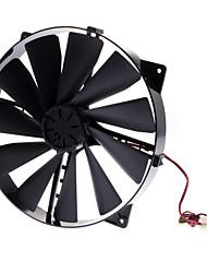 AK-FN066-BK 22cm PC-Gehäuse auf 17cm Einbau Massiver Airflow Fan