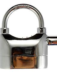Alarmed Padlock Home Garage Electronic Alarm Security Locks Silver