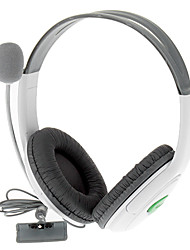 Stereo Headset Headphones+ Mic for Xbox 360 (White)