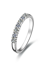 0.7 Carat Seven Stones 925 Silver White Gold Plated SONA Crystal Diamond Ring For Women Wedding