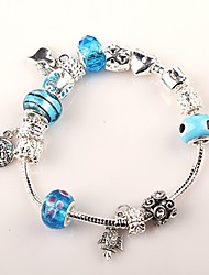 Women European Style Handmade blue beaded bracelets