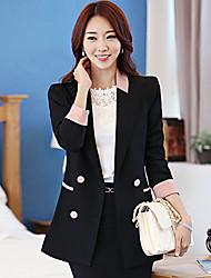 Xiuseliaoren contraste élégant costume de couleur Jacket (Black)