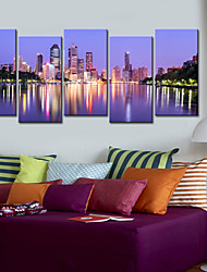 Stretched Canvas Print Art Landscape Charming Reflection Set of 5