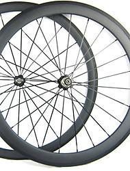 Larghezza di 25mm 700C Full Carbon 38 millimetri anteriore 50 millimetri posteriore tubolare Road Bike / Ruote bici