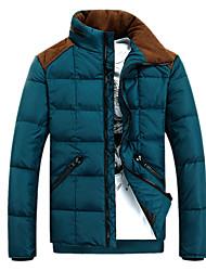 Men's Ski Down Jackets Wearable / Windproof / Thermal / Warm Black / Blue Leisure Sports / Snowsports M / L / XL / XXL / XXXL