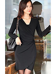 Beiruika Casual Long Sleeve Bodycon Dress