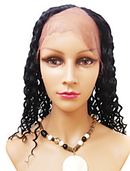 18inch Jet Black Kinky Curly Middle Part Indian Remy Hair U Part Wig
