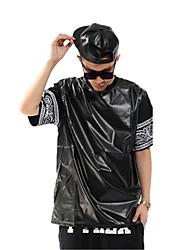 dos homens manga hip hop bandana pu camisetas