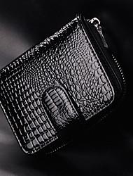 Delle Loonghuiwu donne di vacchetta nera Short Classic borsa (19 centimetri * 9,5 centimetri * 3cm)