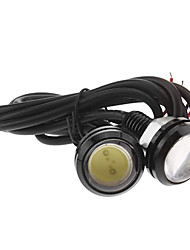 Car Cold White 3W COB 6000 Instrument Light License Plate Light Turn Signal Light LED Angel Eyes