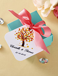 Personalized square tags - Fall (set of 36)