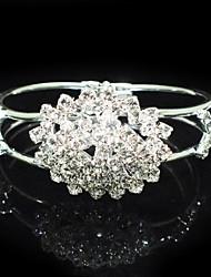 Legering Dames Cuff armband Armbanden Bergkristal