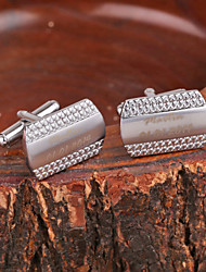 Personalized Gift Fish-scale Pattern Silver Metal Engraved Cufflink