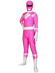 Zentai Suits Ninja Zentai Cosplay Costumes Pink Print Leotard/Onesie / Zentai Spandex Lycra Unisex Halloween / Christmas