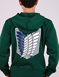 Attack on Costume Titan verde con cappuccio Cosplay (Sleeve Normale)