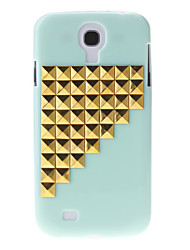 Gold Stairs Rivet Pattern Hard Back Cover Case for Samsung Galaxy S4 I9500