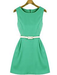 Women's Dresses , Cotton Blend Casual/Work Angleskingdom