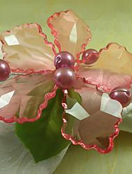 Orchid Acrylique Perles Rond de Serviette, Dia4.2-4.5cm Ensemble de 12, Country Style