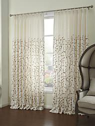 pays deux panneaux floraux botaniques chambre blanche rideaux à panneaux de lin rideaux