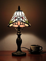 Tiffany Table Light with 1 Light in Lotus Pattern