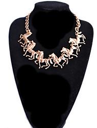 Women's Horses Pendants Necklace
