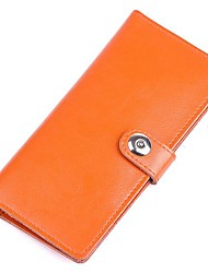 Man and Women New Fashion 100% Genuine Leather Button Card Holder and Wallet