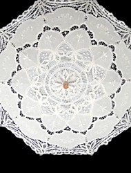 "Wedding / Masquerade Lace Umbrella White 37.8""(Approx.96cm)"