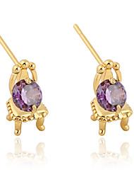 Boucles d'oreilles en or 18 carats Zircon ERZ0235 de Xinxin femmes
