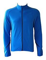 Jaggad - Ciclismo Fleece manga larga Azul + Negro Bicicleta / bici Jersey
